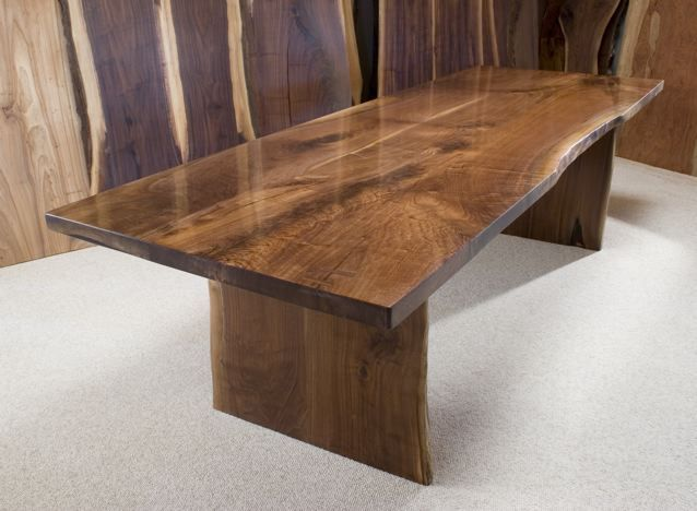 Lovely The Dunton Custom Walnut Crotch Slab Dining Table
