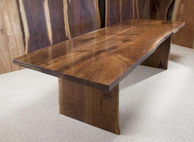 the dunton custom walnut crotch slab dining table