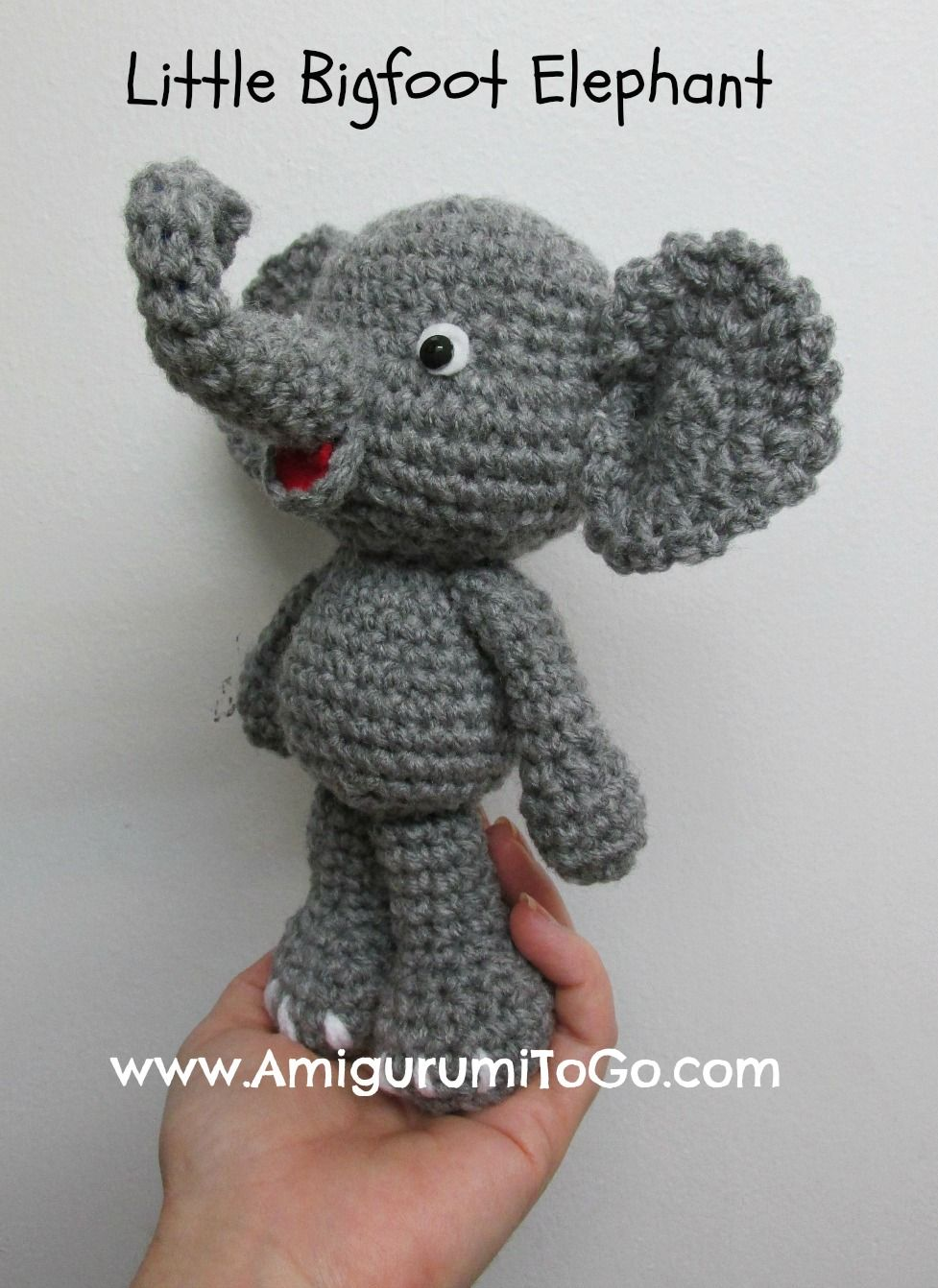 Amigurumi To Go: Cute Elephant Video Tutorial In The Works ...