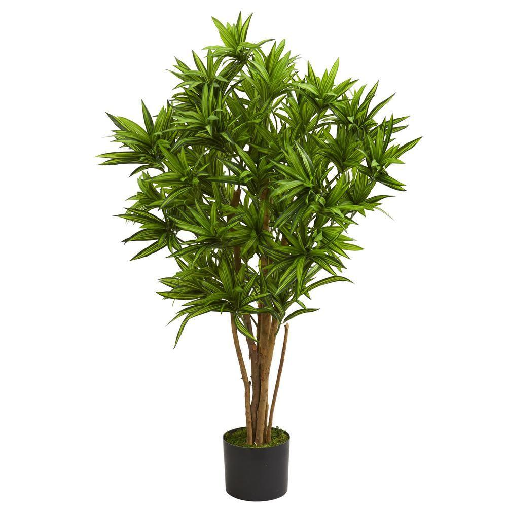 Indoor ft dracaena artificial tree products pinterest
