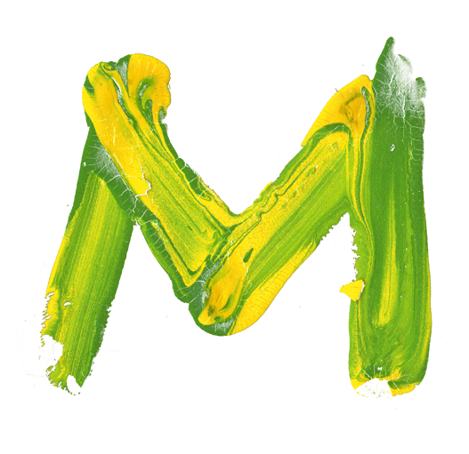 brazil paint font letter m by handmadefont