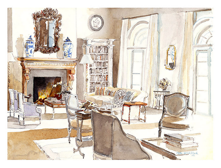 Hand Drawn Renderings Beautiful Rooms Beautiful Fashion With