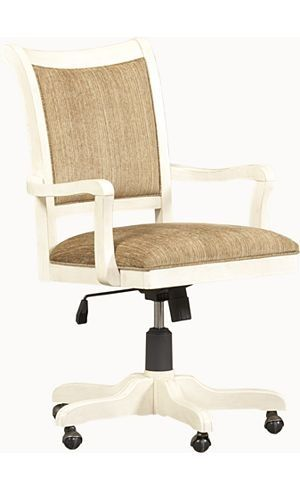 Chairs Southport Office Chair Distressed White Havertys Furniture