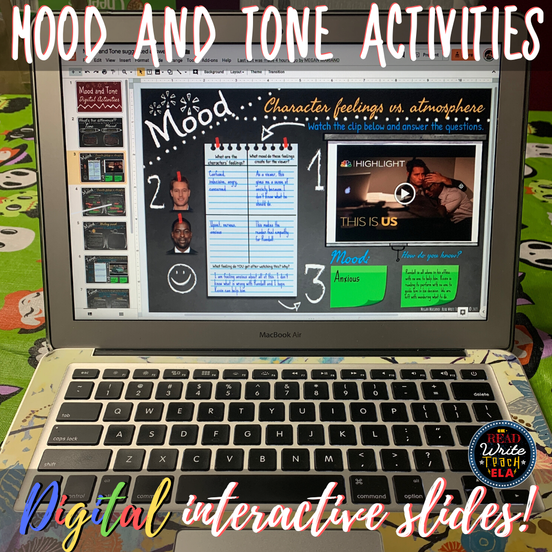 Mood And Tone Digital Interactive Activities With