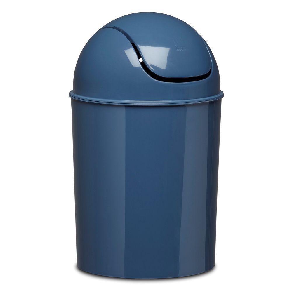 MIST BLUE Umbra Mini Vintage Can Office 5L 1.5 Gallon Waste Basket ...