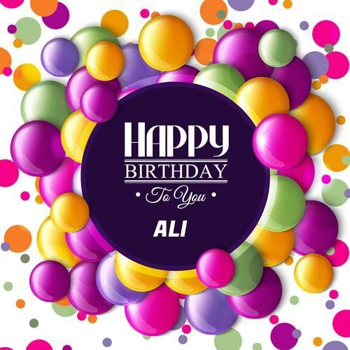 Write Name On Birthday Card With Coloured Balloons Heshamsaad26