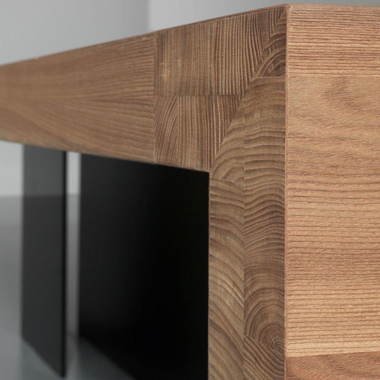kyo olmo solid wood executive desk