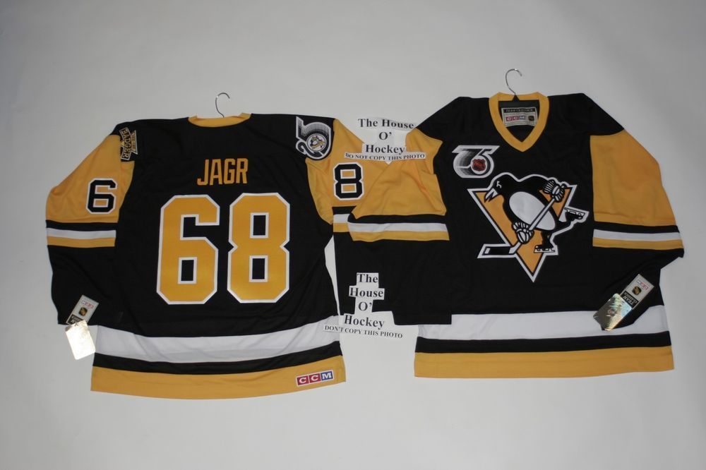 closeout 68 jaromir jagr pittsburgh penguins ccm throwback jersey 75th  anniversary patch ccm pittsburghpengui 085b8 6b22a eec65ac7a