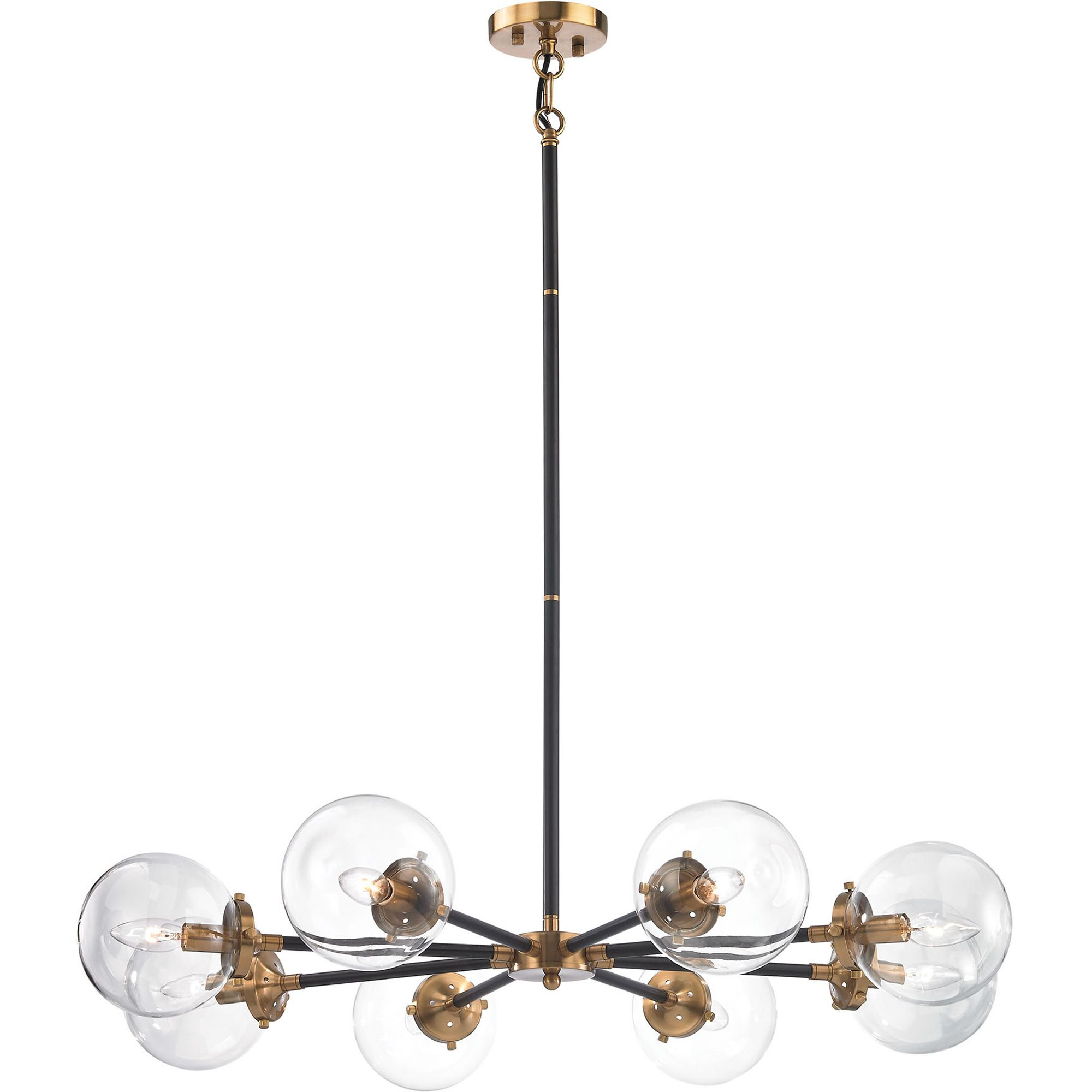 Boudreaux 8 light chandelier in matte black and antique gold by elk boudreaux 8 light chandelier in matte black and antique gold by elk lighting home aloadofball Choice Image