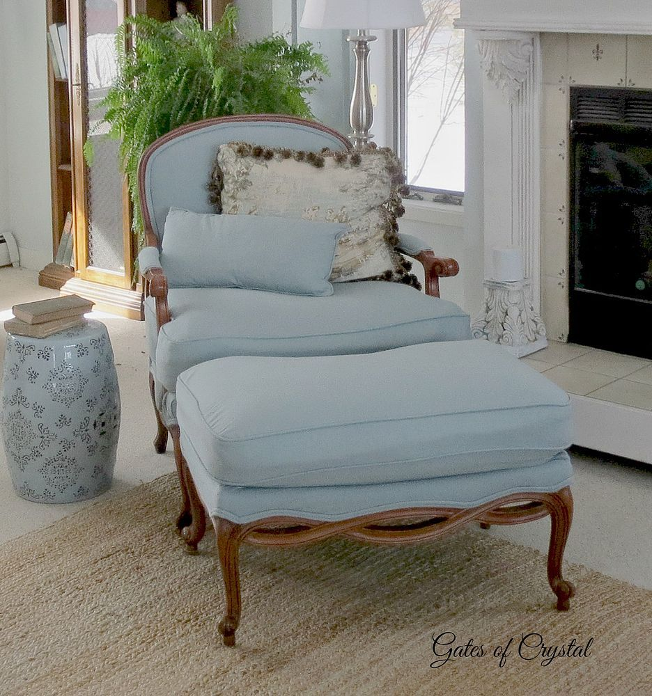 Reupholstering A Chair And Ottoman   If You Love French Country, You  Probably Also Love