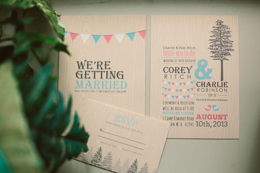 Charlie + Corey - Camp Kiwanee Wedding | Weddings, Invitation ideas ...
