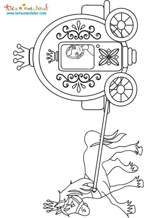 Coloriage Carrosse De Cendrillon.Coloriage Du Carrosse De Cendrillon Coloring Pages Fairy Fairy