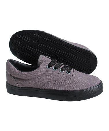Look at this #zulilyfind! Gray & Black Canvas Lace-Up Sneaker #zulilyfinds