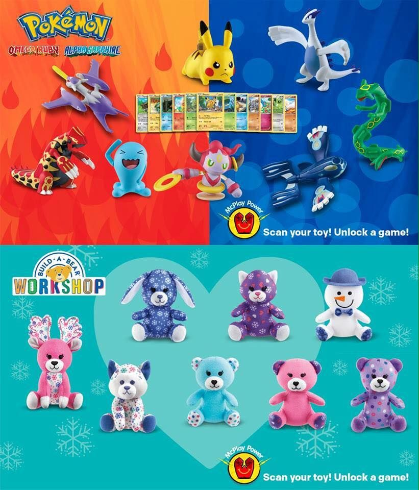 Pokemon And Build A Bear Workshop Toys Happy Meal Toys Happy Meal Mcdonalds Pokemon