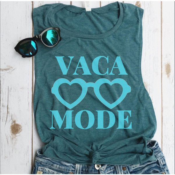 db4728567c71a Vaca Mode Muscle Tank Bachelorette Tank Funny Tank Beaches Be Crazy... ( 22