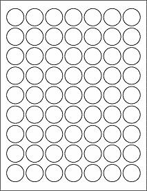 Sheets Of  Round Matte Printer Labels For LaserInk Jet Http