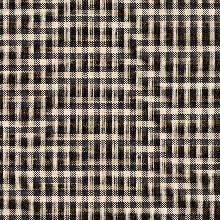 Onyx Gingham Beige And Black Check Tweed Drapery And Upholstery