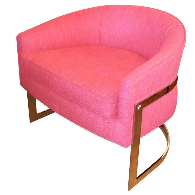 Magic Float Accent Chair: Milo Baughman Hot Pink Floating Chair... Just Amazing
