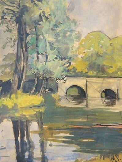 Marguerite Paulet 1900 1979 Petit Pont Pres De Quimper C