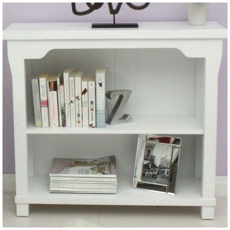 This Bookcase Low White Is Made Of Solid Wood With No Veneers Tongue And