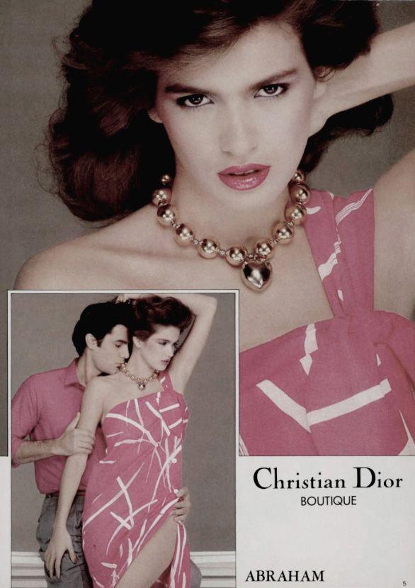 Christian Dior Spring/Summer 1980 (Ad Campaign) Model: Gia Carangi Photographer: Denis Piel