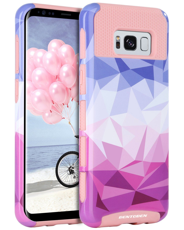 Galaxy S8 Case Samsung Galaxy S8 Case Bentoben 2 In 1 Slim Hybrid Hard Pc Soft Tpu Stylish Geometric Diamond Pattern Textured Shockproof Protective Case For S Geometric Diamond Pattern Case Protective Cases