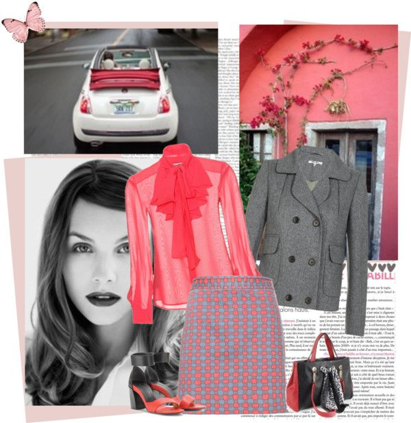 """""""the gray and the red"""" by bodangela ❤ liked on Polyvore"""