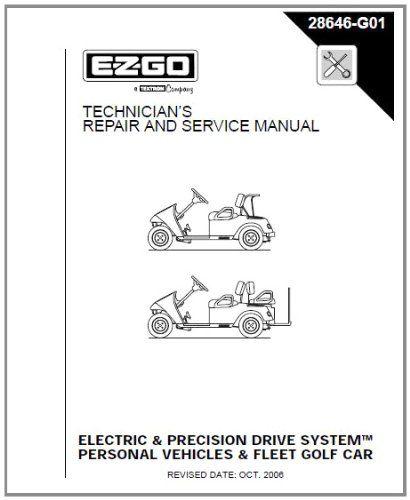 ezgo 28646g01 2001 2009 repair manual for electric pds txt fleet rh pinterest com Ezgo Golf Cart Year Identification Buggies Unlimited Ezgo