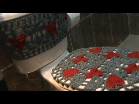 Como hacer un juegos de ba os tejidos a crochet nuevos for Como hacer un tanque de agua para rustico