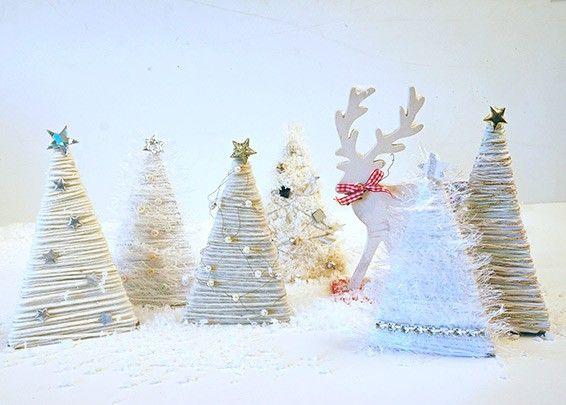weissen tannenwald weihnachten dekorieren und basteln basteln weihnachten. Black Bedroom Furniture Sets. Home Design Ideas