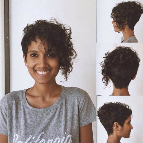 frizzy asymmetrical indian hairstyle