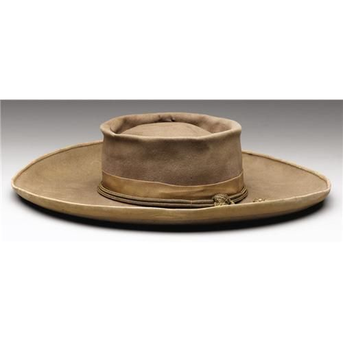 afa961939d8 A Confederate Officer s Slouch Hat With Gold Cord and Acorns This  buckskin-colored felt slouch