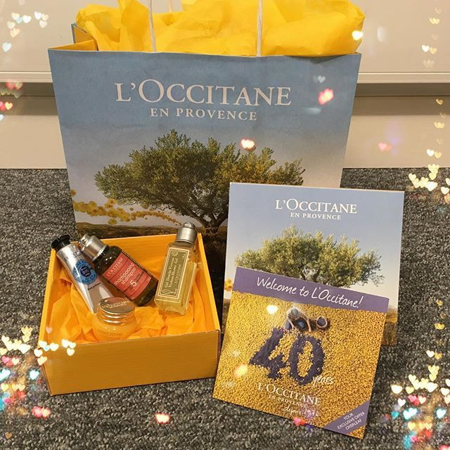 To Celebrate Their 40th Birthday LOccitane Has Given Away Free Gift Bags And We Picked Up Ours From Our Local Shop