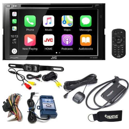 JVC KWV940BW Receiver compatible with Android Auto, Apple