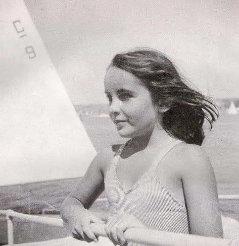 Very Young Liz On A Boat Elizabeth Taylor Young Elizabeth Taylor Young Celebrities