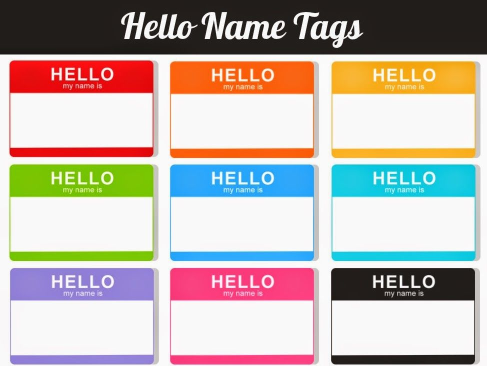 Printable Hello My Name Is Labels Google Search Happy Mail - Hello my name is tag template
