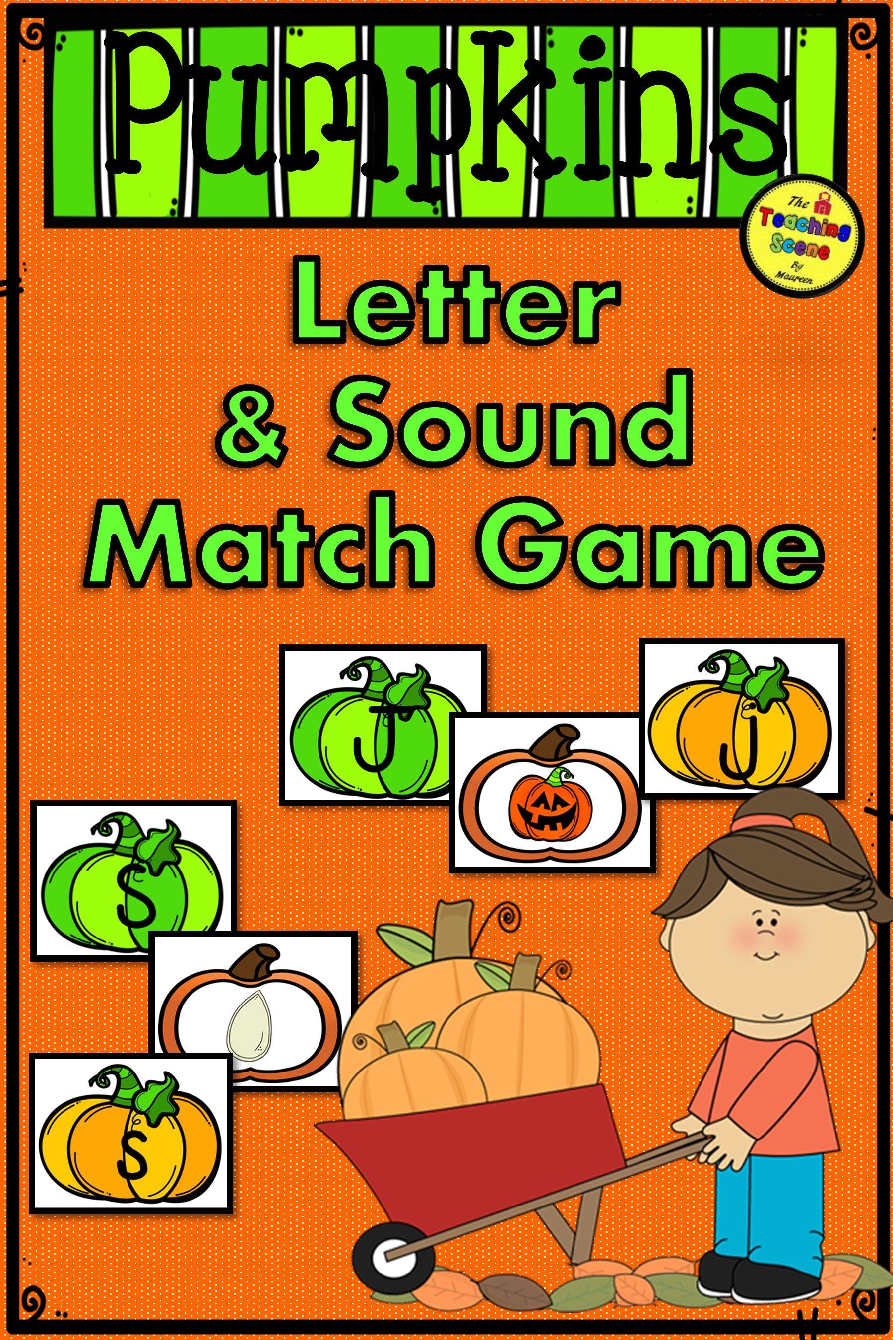 Pumpkin Letter Amp Sound Match Game
