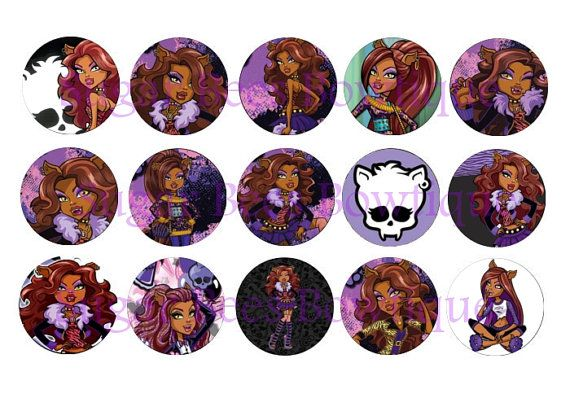 Monster High Clawdeen Bottle Cap Images