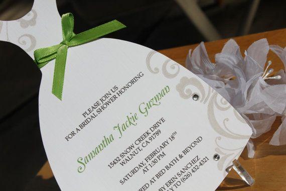 Green Bridal Shower Dress  Invitation by CraftedbyLizC on Etsy, $2.25