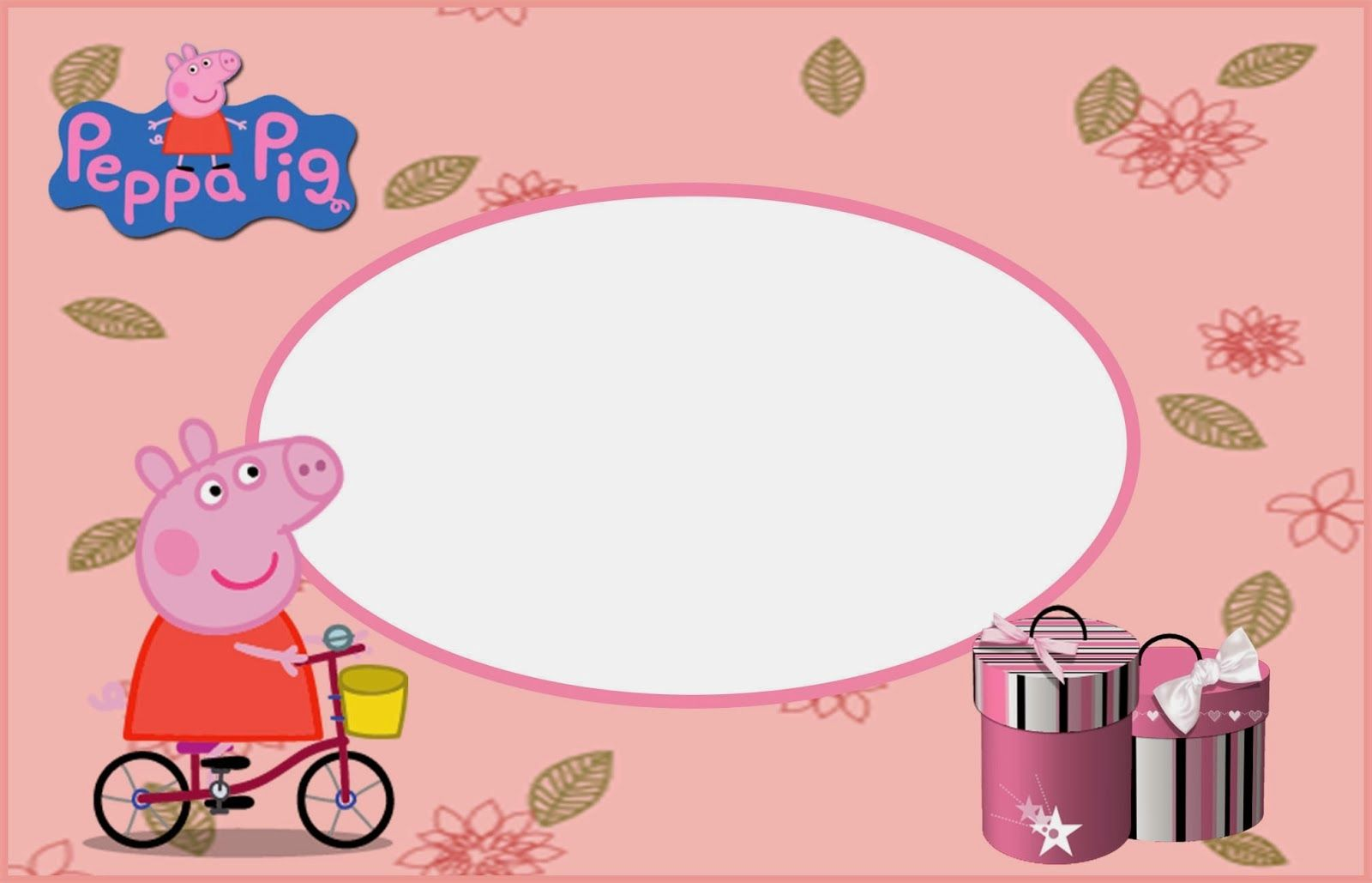 Peppa Pig: Free Printable Invitations, Labels or Cards.   Ideas ...
