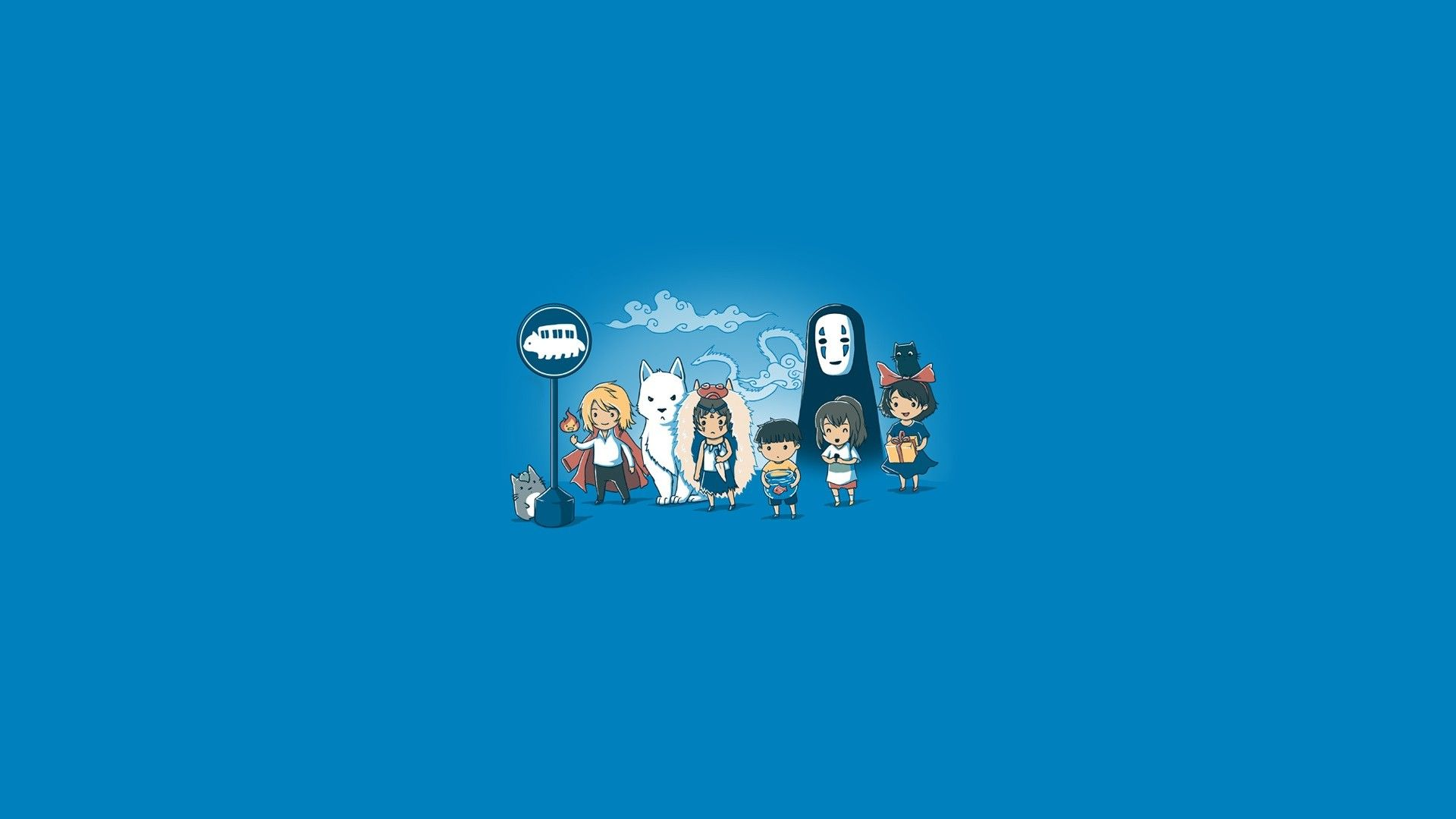 Studio Ghibli Howls Moving Castle Castle In The Sky Chihiro My Neighbor Totoro Minim Anime Wallpaper Download Hd Anime Wallpapers Spirited Away Wallpaper