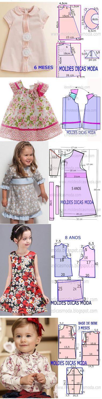 Https I Pinimg Com 564x 1b 38 E2 1b38e296e7bcfe2df5720d0eed6b22d4 Jpg Vestidos Infantis Moda Infantil Para Meninas Molde De Roupa Infantil