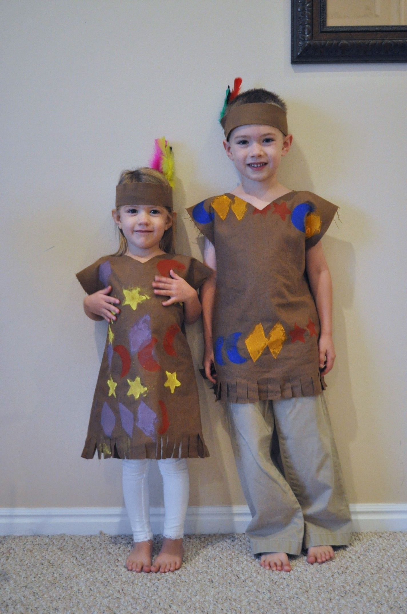 Simple homemade native american costume rally jasper for Easy homemade costume ideas for kids