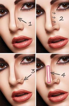 how to contour your nose  beauty in 2019  nose makeup