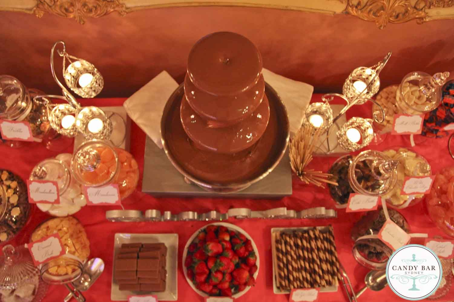 Candy Bar Sydney Fuentes De Chocolate Mesa De Dulces Chocolate