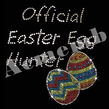 Official Easter Egg Hunter Rhinestone Bling T Shirts Transfers Wholesale