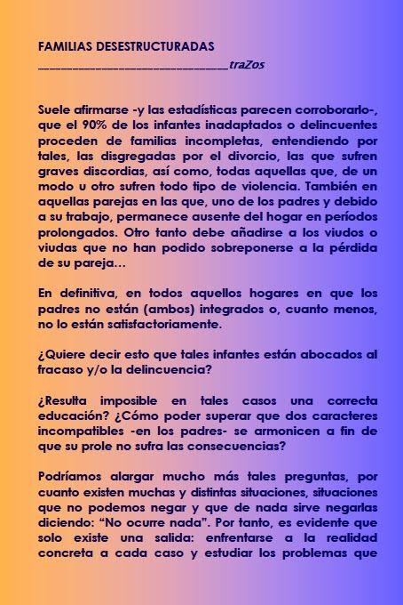 grafologia infantil - xavier serracant: Familias desestructuradas