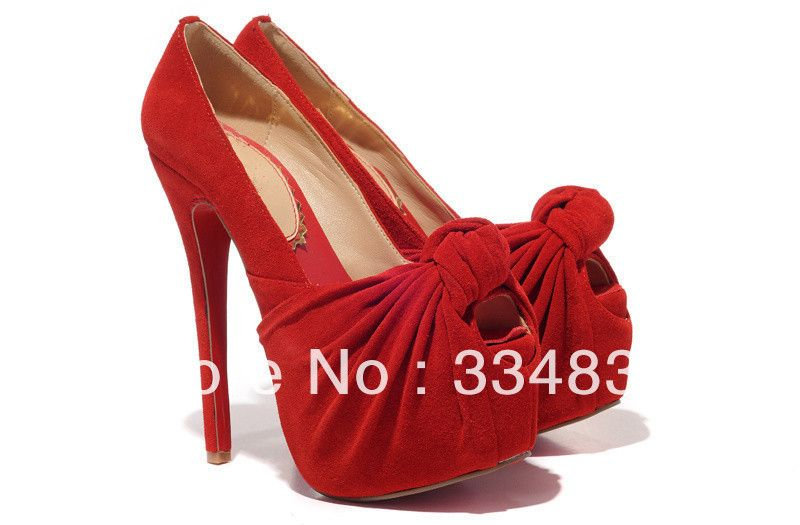 2013 Hot Selling Elegant Round Open Toe Women Pumps Sexy High Heel Shoes  US $72.00