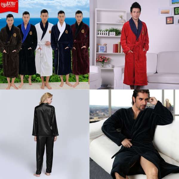 9b14a1348a Fetoo Flannel Robe Male With Hooded Thick Star Wars Dressing Gown Jedi  Empire Men s Bathrobe Winter