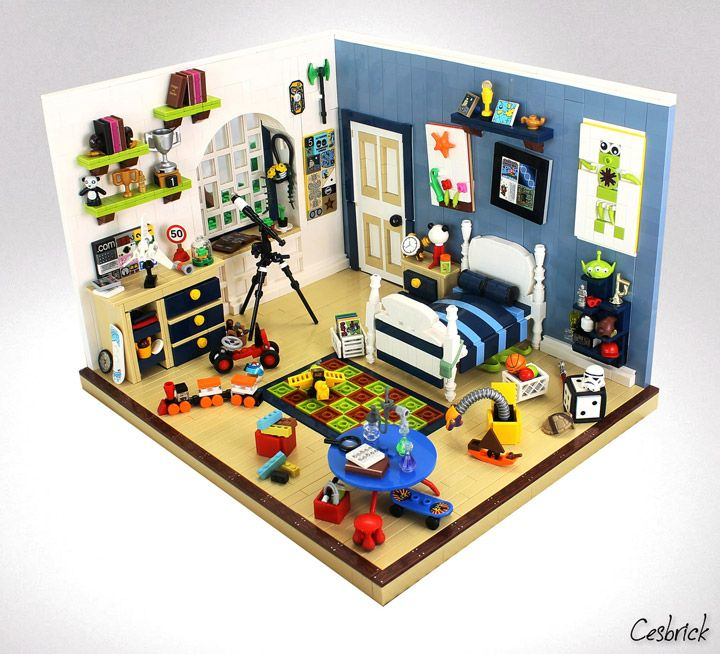 cesar soaress lego kids room - Boys Room Lego Ideas